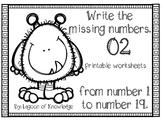 Missing Numbers Monster - Freebie