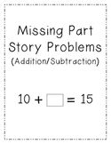 Missing Part Story Problem