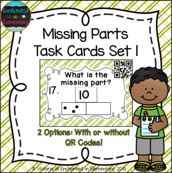 Missing Part Task Cards: 1st Grade Common Core: Operations