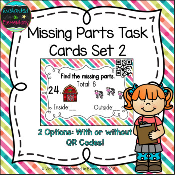 Missing Part Task Cards Set 2: 1st Grade CC: Operations & Algebraic Thinking