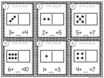 Missing Part Task Cards {numbers to 10}