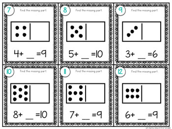 Missing Part Task Cards | Math Center