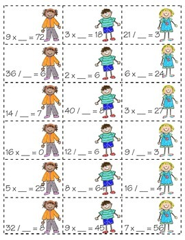 Missing Parts! *MULTIPLICATION & DIVISION* (3.OA.B6)