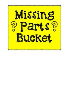 Missing Parts Bucket Label