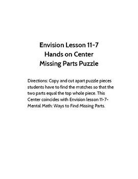 Missing Parts Puzzle Piece Envision 11-7 Center