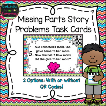 Missing Parts Story Problems Task Cards