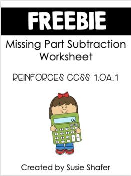 Missing Parts Subtraction Worksheet (FREEBIE!)
