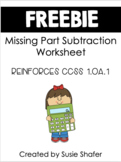 Missing Parts Subtraction Worksheet (FREEBIE!)