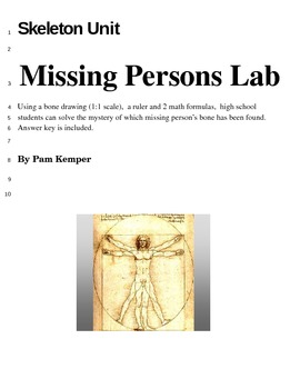 Missing Persons Lab