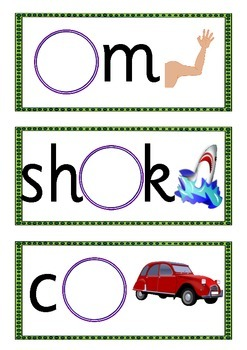 Missing Phoneme Cards - Phase 3 Sets 10-12 (oo or ur ar ow oi ear air ure er)
