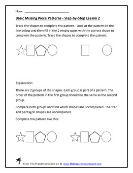 Missing Pieces of Patterns Teacher Pack