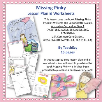Missing Pinky Lesson Plan and Worksheets