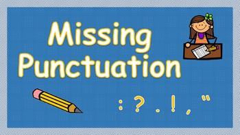 Missing Punctuation