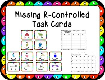 Missing R-Controlled Task Cards