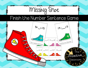 Missing Shoe Complete the Number Sentence