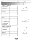 Missing Side Lengths in Right Triangles: Using Trigonometry