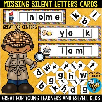 Missing Silent Letters Cards