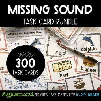 Missing Sound Task Card GROWING BUNDLE
