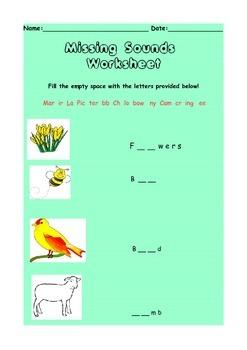 Missing Sounds worksheet