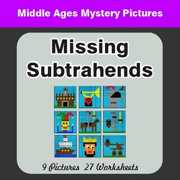 Missing Subtrahends - Color-By-Number Math Mystery Pictures
