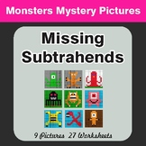 Missing Subtrahends - Color-By-Number Mystery Pictures