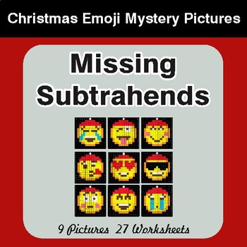 Missing Subtrahends - Color-By-Number Christmas Mystery Pictures