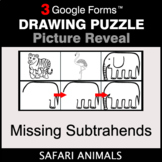 Missing Subtrahends - Drawing Puzzle | Google Forms