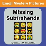 Missing Subtrahends EMOJI Mystery Pictures