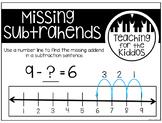Missing Subtrahends FREEBIE