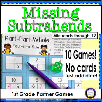 Missing Subtrahends One Page Games { Minuends Through 12 }
