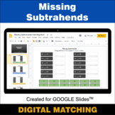 Missing Subtrahends - Google Slides - Distance Learning -