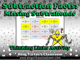 Missing Subtrahends Thinking Links - Subtraction Facts - King Virtue
