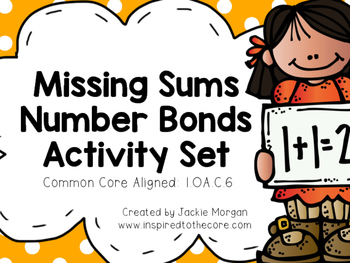 Missing Sums Number Bond Activity Set
