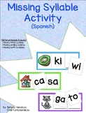 Missing Syllable Activity - Spanish