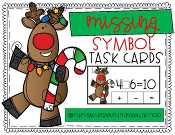Missing Symbol Reindeer Task Cards