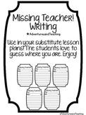 Missing Teacher Writing Activity FREEBIE