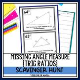 Missing Triangle Angle Measure (Trig Ratios) Scavenger Hunt