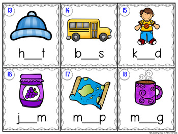 Missing Vowel Scoot {or task cards!} CVC Words