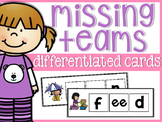 Missing Vowel Team Differentiated Cards