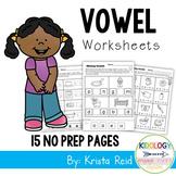 Phonics: Vowels  - Worksheets and No Prep Printables