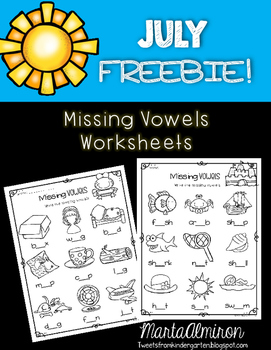 Missing Vowels {My Monthly FREEBIE}