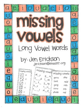 Missing Vowels:  Long Vowel Words