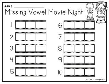 Missing Vowels Movie Night