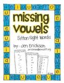 Missing Vowels: Sitton Sight Words