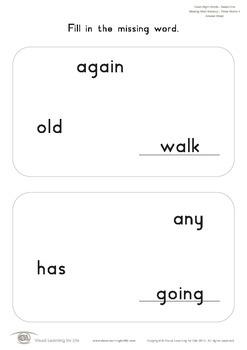 Missing Word Memory (1st Grade)