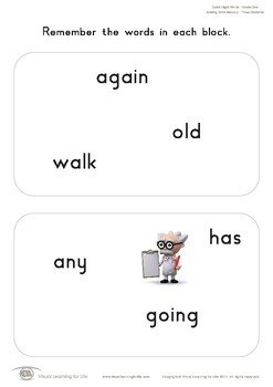 Missing Word Memory (1st Grade)