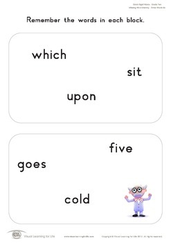 Missing Word Memory (2nd Grade)
