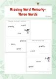 Missing Word Memory (Kindergarten)