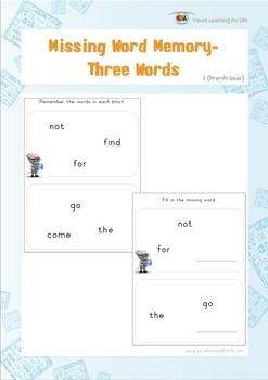 Missing Word Memory (Pre-K)