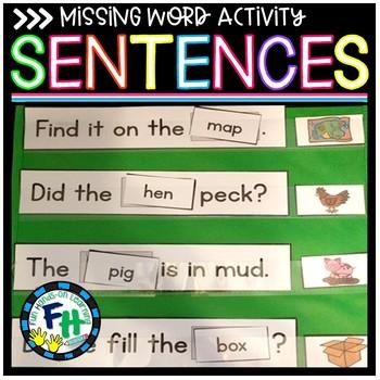 Missing Word Sentence Activity (Short Vowels)